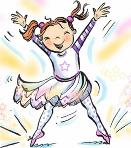 Twinklesteps is a little girl who is also a fairy, who loves to dance and has shoes that sparkle when she points her toes.
