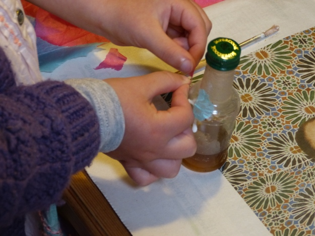 Decorate a fairy-sized bottle