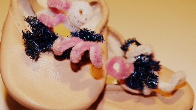 Creative Decorated Ballet Shoes - pipecleaner twirls