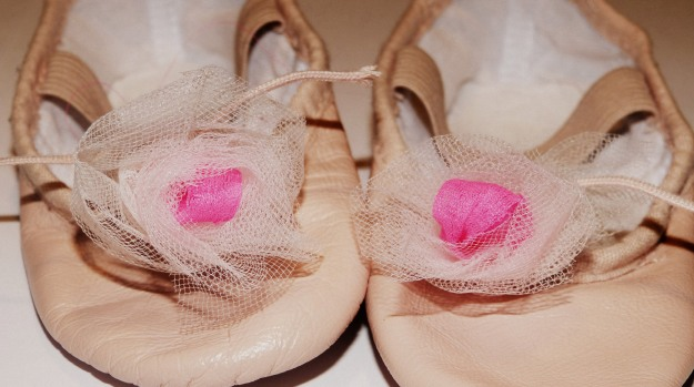 Creative Decorated Ballet Shoes  - tulle roses