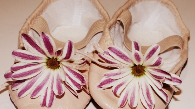 Creative Decorated Ballet Shoes - Flower Decorations