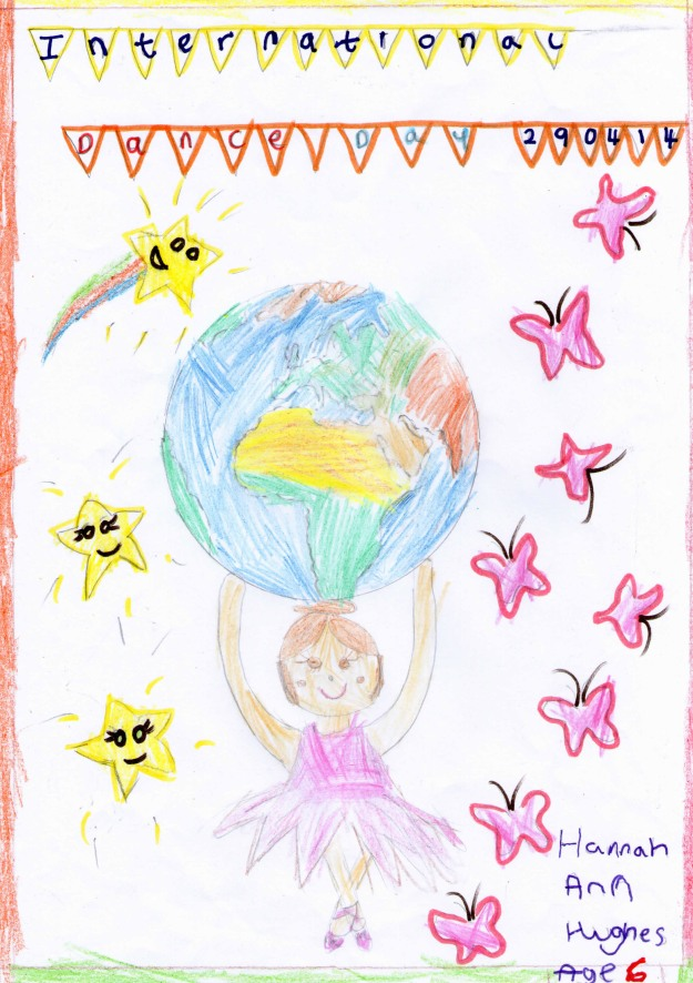 Ballerina dancing on World Dance Day by Hannah