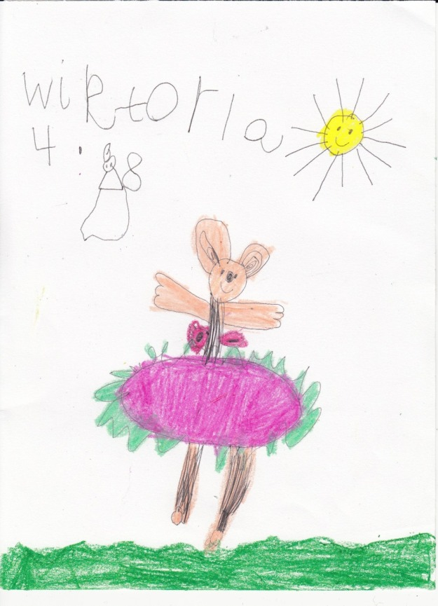 Ballerina Drawing by Wiktoria