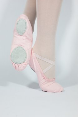 Pink Canvas Split Sole Ballet Shoes