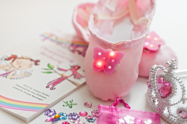 Light up Twinklesteps ballet shoes, ballet adventure book and crown