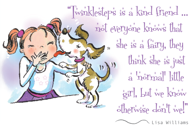 Twinklesteps is a kind friend …not everyone knows that she is a fairy, they think she is just a 'normal' little girl, but we know  otherwise don't we!