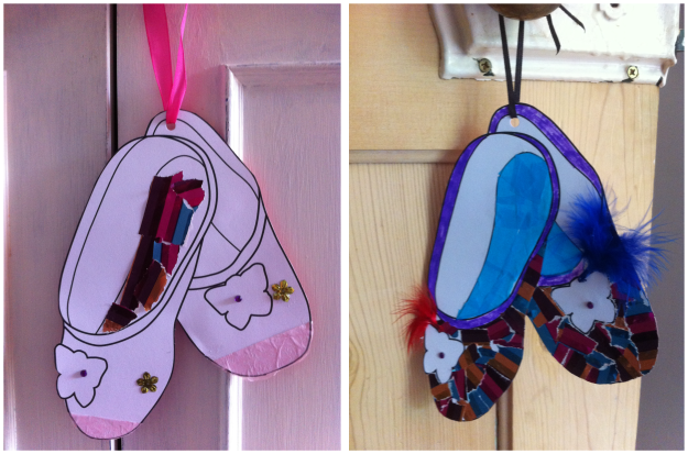 Twinklesteps ballet shoe craft activity for kids